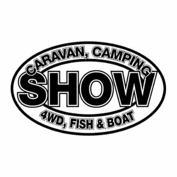 caravan camping 4wd fish and boat show logo